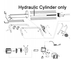 AL-KO Log Splitter Hydraulic Cylinder 463559