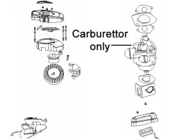 AL-KO Lawnmower Carburettor Tech 165 480192