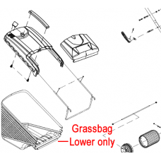 Cobra RM46 Lawnmower Grassbag Lower 25100165502