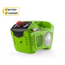 Greenworks G40AC 40v Compressor c/w Battery and Charger