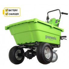 Greenworks 40v Self-Propelled Cart with 2 x batteries and charger