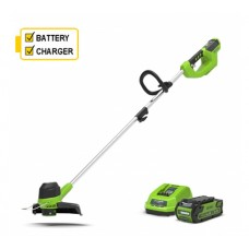 Greenworks G40T5K2 Cordless 40v Line Trimmer c/w 2Ah Battery & Charger