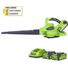 Greenworks GD40BV 40v Cordless Blower c/w battery & charger