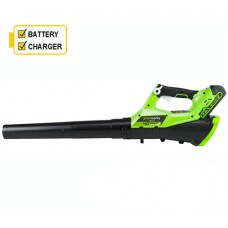 Greenworks G40ABK2 40v Axial Blower c/w battery & charger