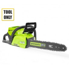 Greenworks GD60CS40 60v Cordless Chainsaw (No Battery/Charger)