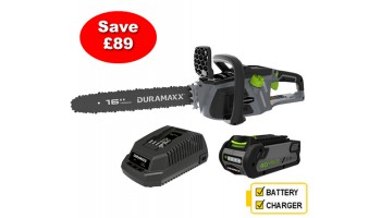 Greenworks Duramaxx Cordless 40V Chainsaw Kit With 2Ah Battery & Charger
