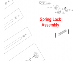 Mitox Multi-Tool Coupling Spring Lock Assembly MIBG305.2.1