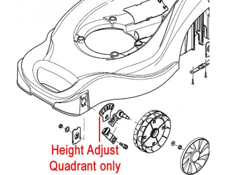Mountfield Front Height Adjust Quadrant 322735599/0