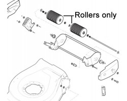 Mountfield Lawnmower Roller Assembly 381007400/0