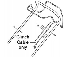 Mountfield Lawnmower Clutch Cable 381030140/0