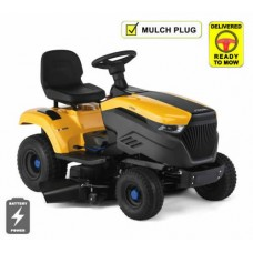 Stiga e-Ride S300 Battery Side Discharge Lawn Tractor