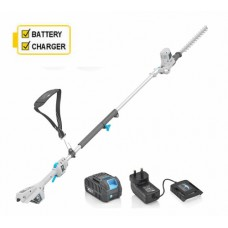 Swift EB918D2 Cordless Long Reach Hedge Trimmer with Battery and Charger