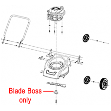 Webb R41 Lawnmower Blade Boss WE479504