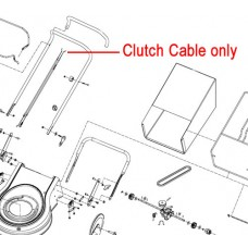 Webb Lawnmower Clutch Drive Cable WE50503