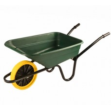 The Walsall Shire Multi-purpose 90L Barrow in a Box - Green - Puncture Proof - BSHGPP