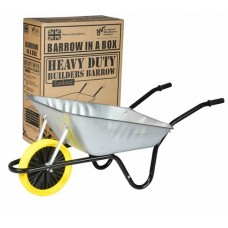 The Walsall Easiload 85L Builders Barrow in Box - Puncture Proof - BEASGVPP