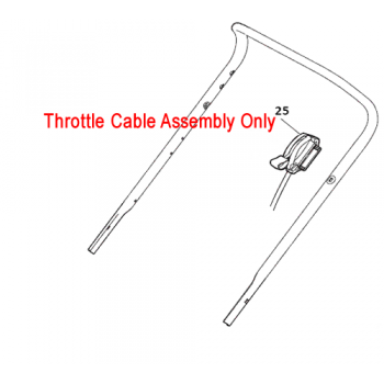 Mountfield Throttle Cable S421 R (RSC100) 181005537/0