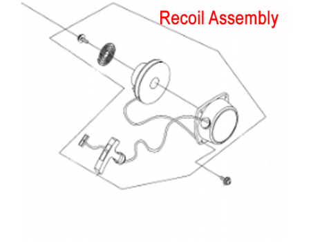 Gardencare Replacement Recoil Starter Assembly GC1E34F.11G