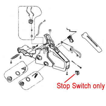 Gardencare Chainsaw On / Off Switch GCYD38-3.01.11.04-00