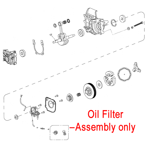gardencare chainsaw oil filter assembly yd38