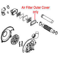 Gardencare Blower Air Filter Outer Cover EB-650.5-1