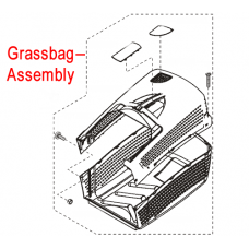 AL-KO Lawnmower Grassbag Assembly 118701