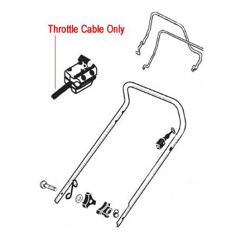 AL-KO Replacement Throttle Cable (AK333935)