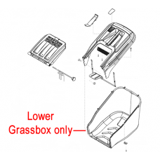 AL-KO Lawnmower Grassbag Lower Box 46381601