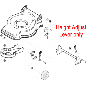 AL-KO Replacement Lawnmower Front Height Adjuster Lever (527700)