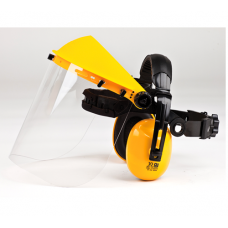 Brushcutter Clear Visor and Ear Protection Combi