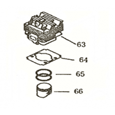 Mitox Replacement 26cc Cylinder MI1E34F-8 for 260L & 260U