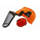 FORESTRY COMBI SAFETY HELMET - ORANGE - 8 X12 VISOR RPB954