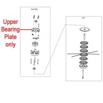 DR Replacement Upper Bearing Plate (DR143491)