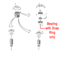 DR Replacement Bearing c/w Snap Ring (DR143921)