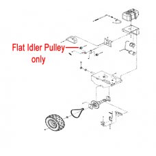 DR Replacement Flat Idler Pulley (DR150481)