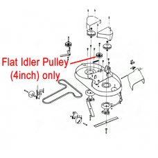 "DR Replacement Flat Idler Pulley - 4"" (DR151271)"