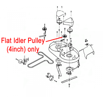 """DR Replacement Flat Idler Pulley - 4"""" (DR151271)"""