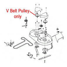 "DR Replacement Pulley - V Belt 6"" (DR151711)"