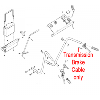 DR Replacement Transmission Brake Cable (DR181131)