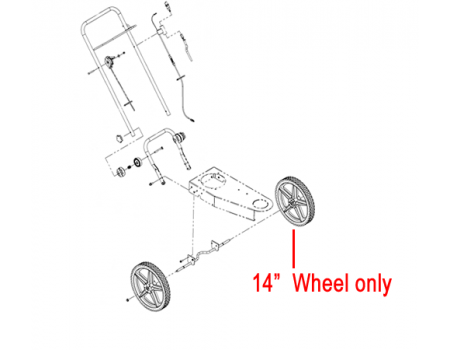 """DR Replacement 14"""" Wheel (DR311081)"""