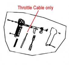 Mitox Throttle Cable 650B 65B Backpack Blower MI3WF-16.3.2.2