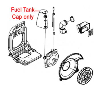 Gardencare Fuel Tank Cap Assembly B650 Backpack Blower GCEB-415.4.1