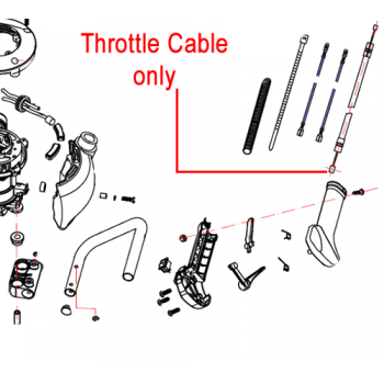Gardencare Throttle Cable Hedge Trimmer GCGJB25S.05.02-00