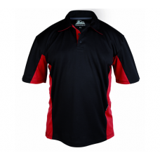 Himalayan Zephyr Polo Shirt Black and Red