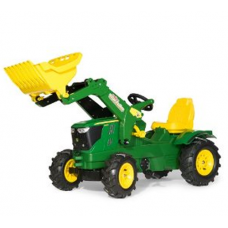 John Deere 6210R Toy Tractor & Frontloader with Pneumatic Tyres