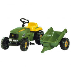 John Deere Toy Rolly Tractor & Trailer