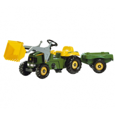 John Deere Toy Rolly Tractor & Trailer & Front Loader