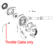 Mitox Blower Throttle Cable MIEB-260.4