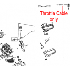 Mitox Hedgetrimmer Throttle Cable MIGJB25D-2.05.02-00