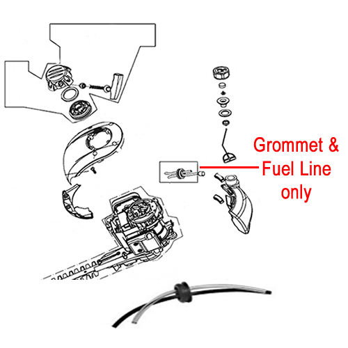 Mitox Fuel Tank Grommet And Fuel Line Assembly